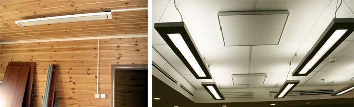 Обогреватели для монтажа на потолок