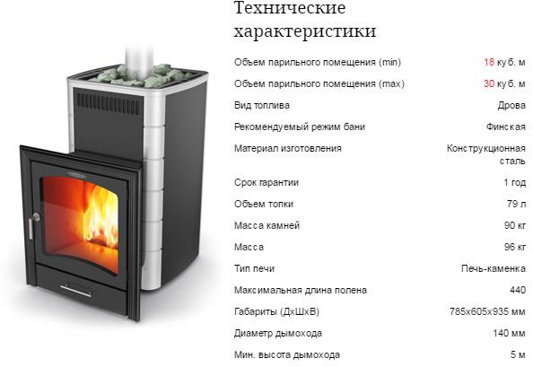 Печка Калина Carbon
