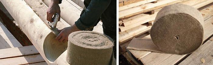 Теплоизоляция деревянного сруба
