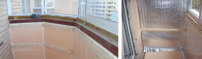 Утепление балкона своими руками: схемы, пошаговая инструкция.