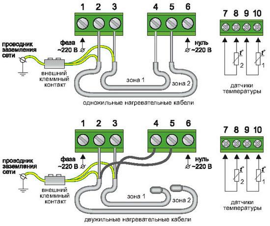 Тёплый пол теплолюкс схема подключения