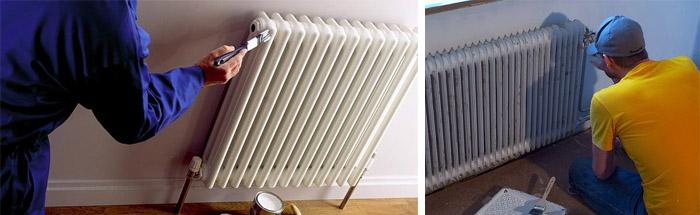 Чем покрасить отопительный радиатор