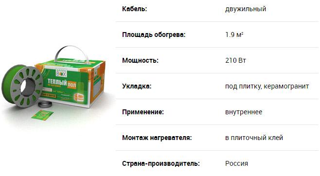 Характеристики Green Box
