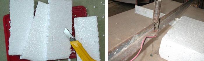 Как раскрошить пенопласт в домашних условиях