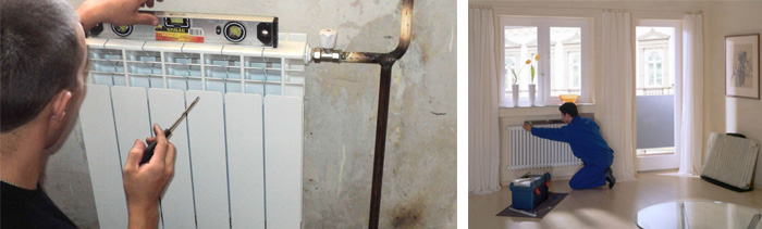 Установка радиатора отопления в квартире своими руками