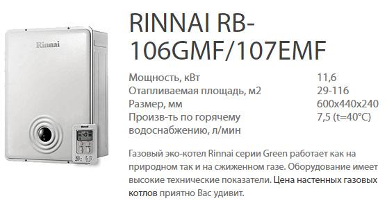 Риннай RB-106GMF