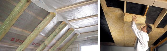 Изоляция потолка в доме