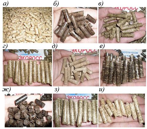 Разновидности гранул