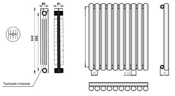Секционная и трубчатая конструкции