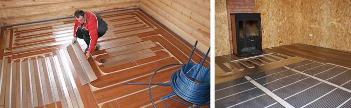 Система обогрева деревянного основания