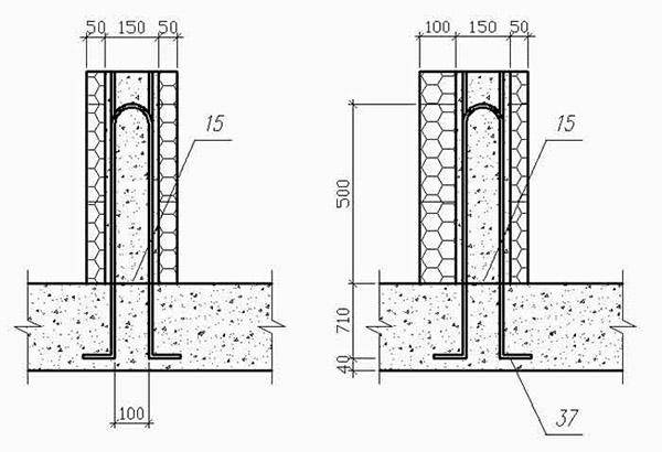 Схема монтажа несъемных панелей