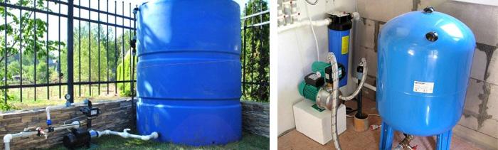 Применение резервуаров для воды