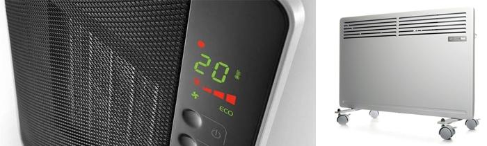 Тепловентилятор и конвекторный нагреватель