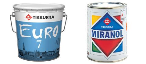 Tikkurila Euro и Miranol
